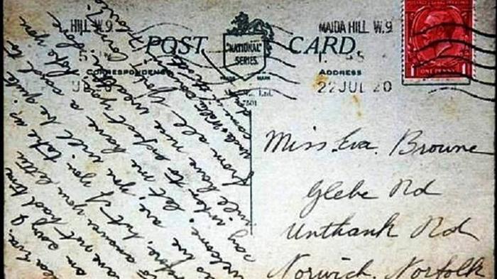 Семья в Британии получила отправленную 100 лет назад открытку