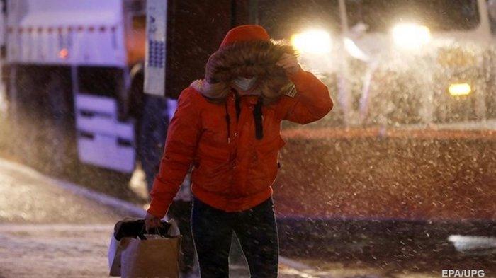 США накрыла снежная буря (видео)