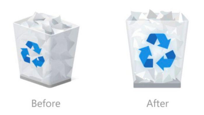 Microsoft показала новые иконки папок и корзины Windows 10 (фото)
