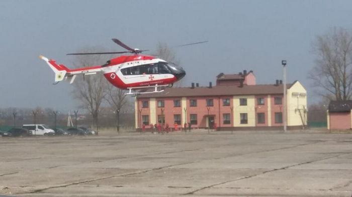Львовскую область патрулируют медики на вертолете