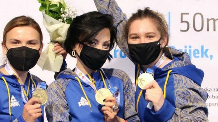 Сборная Украины выиграла золото на чемпионате Европы по стрельбе
