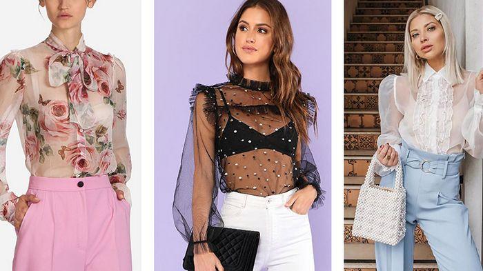 С чем носить прозрачную блузку: самые удачные сочетания