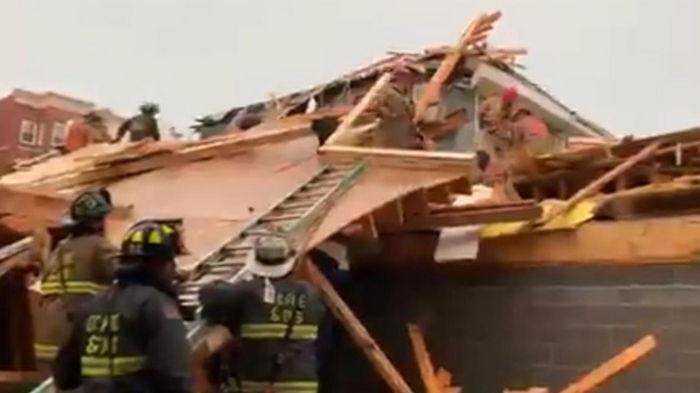В Вашингтоне во время грозы рухнуло здание