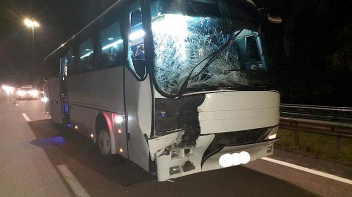 Возле Ровно в ДТП попал автобус с паломниками