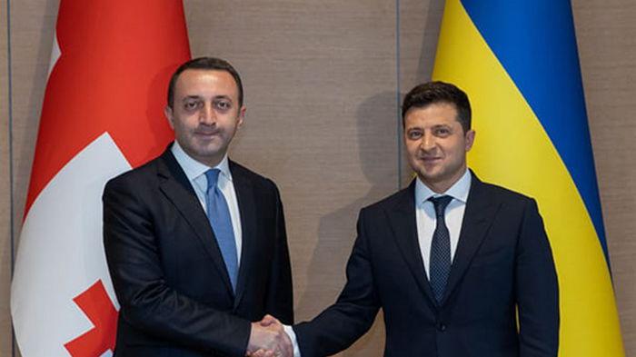 Президент Украины встретился с премьером Грузии