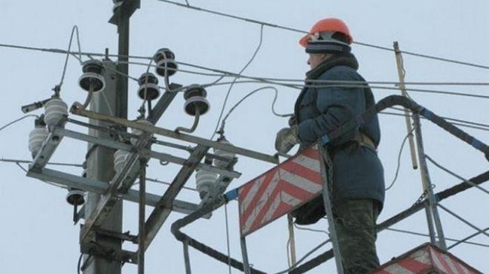 В двух областях Украины обесточен 71 населенный пункт