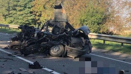На Львовщине столкнулись пять авто, есть жертва (фото)
