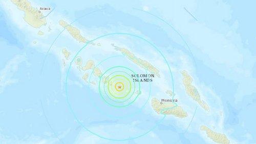 Возле Соломоновых островов произошло сильное землетрясение